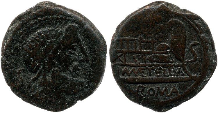Semis republicano gens Caecilia Cr263-3a